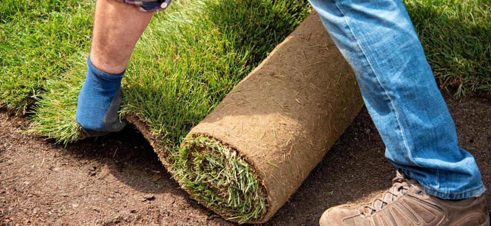 role pokládání trávníkového koberce