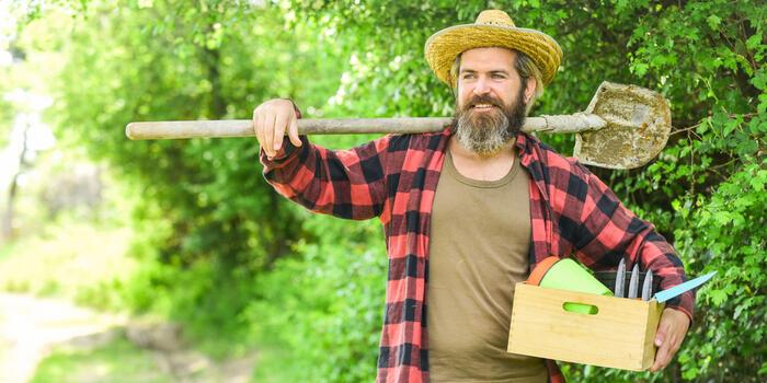 zahradník ve farmarskem stylu
